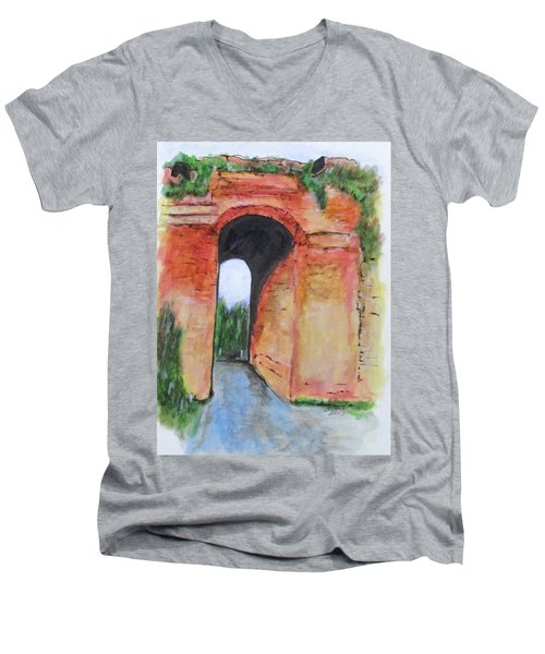 Arco Felice, Revisited Men's V-Neck T-Shirt