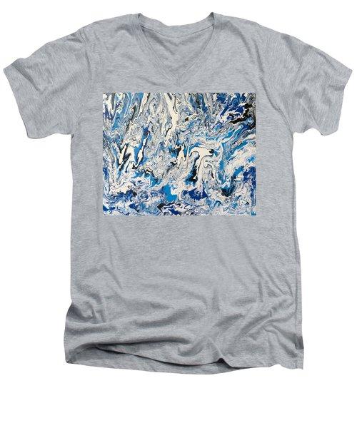 Arctic Frenzy Men's V-Neck T-Shirt by Teresa Wing