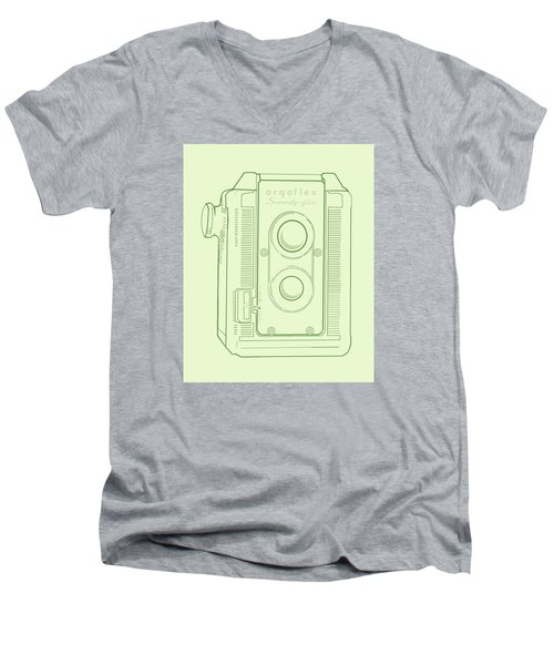 Argoflex Green Men's V-Neck T-Shirt by Christina Lihani