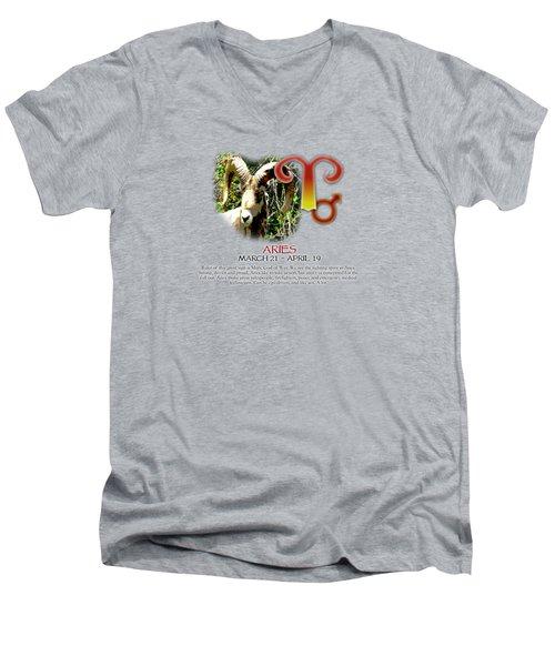 Aries Sun Sign Men's V-Neck T-Shirt