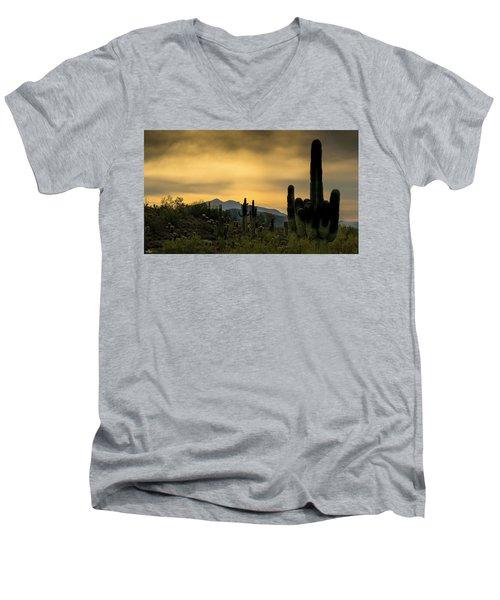 Arizona And The Sonoran Desert Men's V-Neck T-Shirt