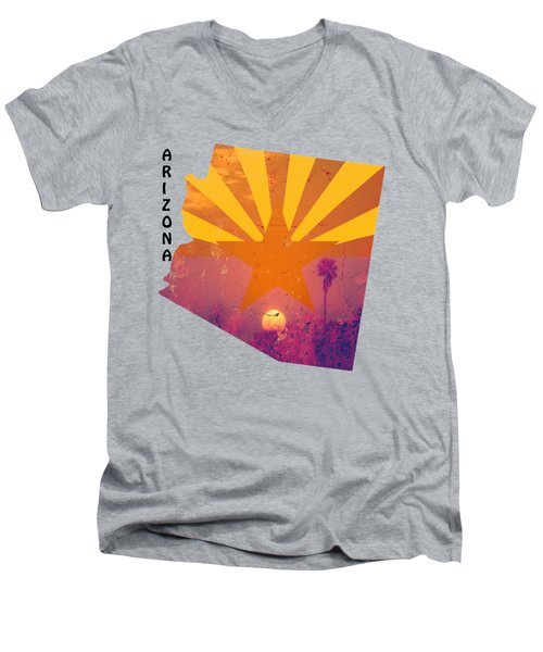 Arizona Men's V-Neck T-Shirt by Beverly Guilliams