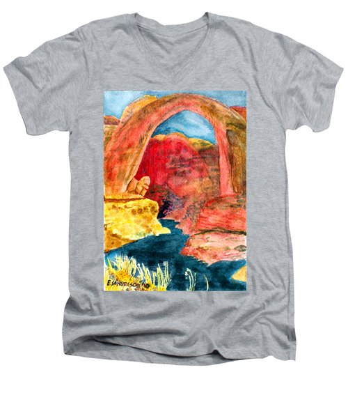 Arizona Rainbow Men's V-Neck T-Shirt by Eric Samuelson