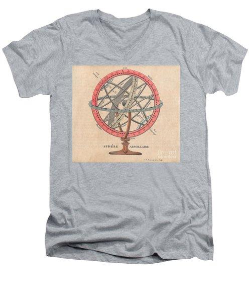 Armillary Sphere  Men's V-Neck T-Shirt by Sergey Lukashin