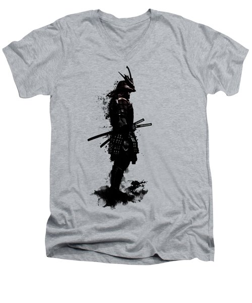 Armored Samurai Men's V-Neck T-Shirt by Nicklas Gustafsson