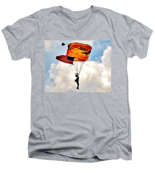 Army Paratrooper 2 Men's V-Neck T-Shirt