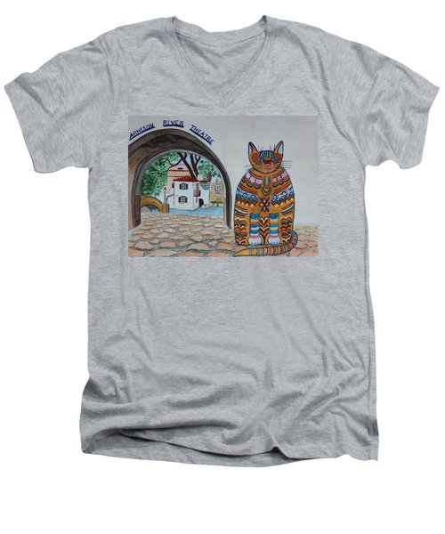Arneson Theatre Cat Men's V-Neck T-Shirt