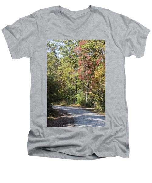 Around The Bend Men's V-Neck T-Shirt by Ricky Dean
