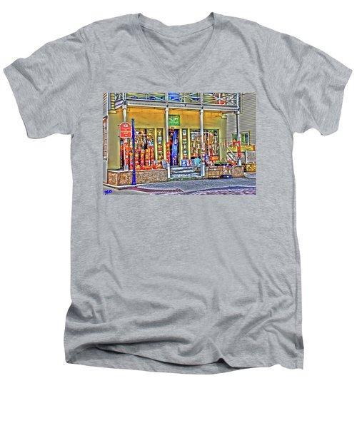 Around The World Marketplace Saint Augustine Men's V-Neck T-Shirt