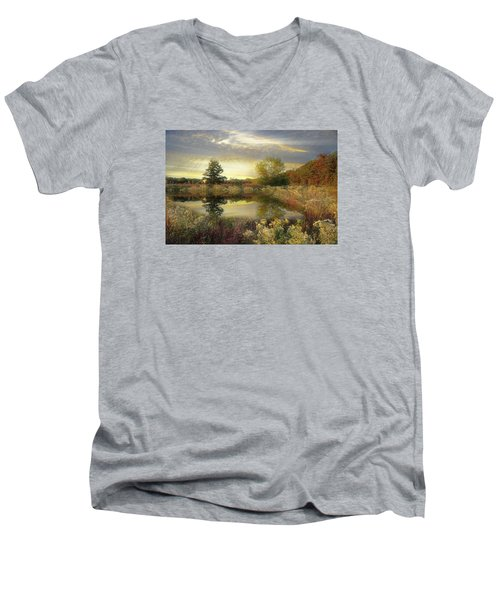 Men's V-Neck T-Shirt featuring the photograph Arrival Of Dawn by John Rivera
