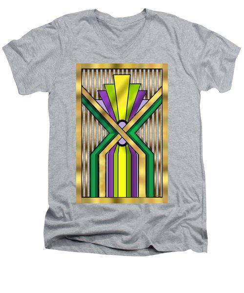 Art Deco 14 B Transparent Men's V-Neck T-Shirt by Chuck Staley