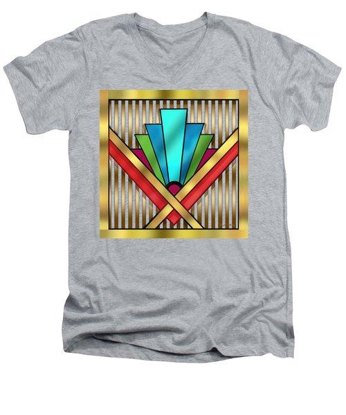 Art Deco 15 Transparent Men's V-Neck T-Shirt