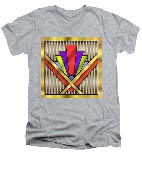Art Deco 16 Transparent Men's V-Neck T-Shirt