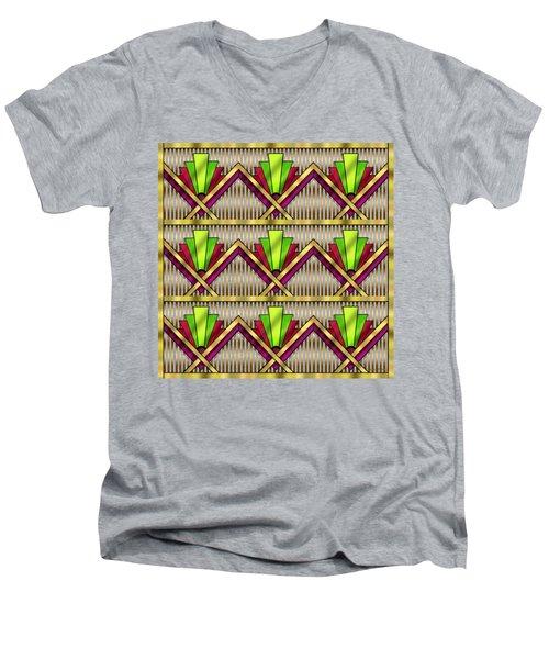 Art Deco Multiview 18  Men's V-Neck T-Shirt