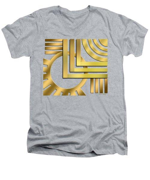 Art Deco 19 Transparent Men's V-Neck T-Shirt