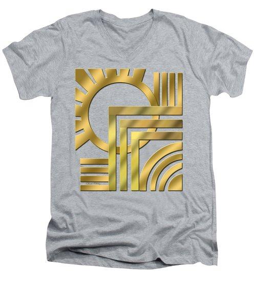 Art Deco 21 Transparent Men's V-Neck T-Shirt