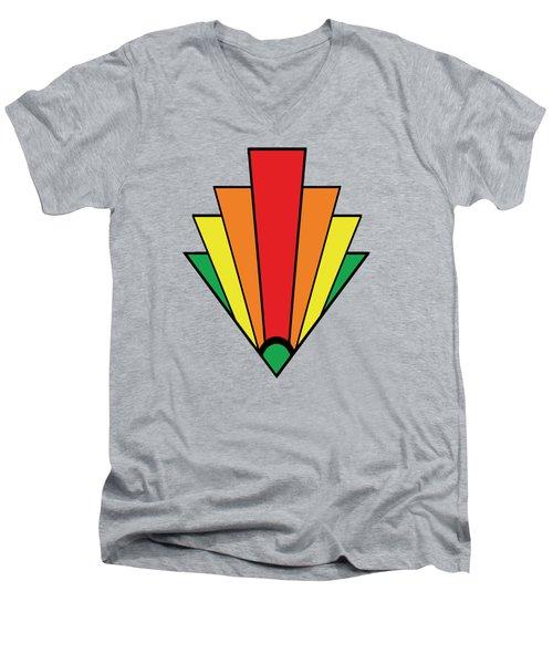 Art Deco Chevron - Chuck Staley Men's V-Neck T-Shirt