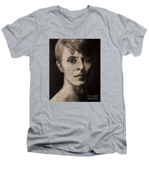Art In The News 78-bowie Men's V-Neck T-Shirt