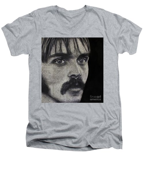 Art In The News 95-steve Prefontaine Men's V-Neck T-Shirt