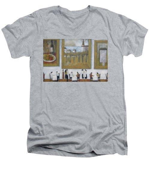 Art Is Long, Life Is Short Men's V-Neck T-Shirt by Glenn Quist