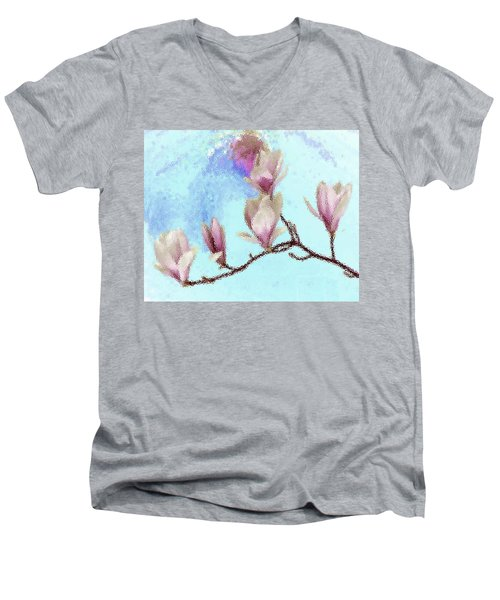 Art Magnolia Men's V-Neck T-Shirt