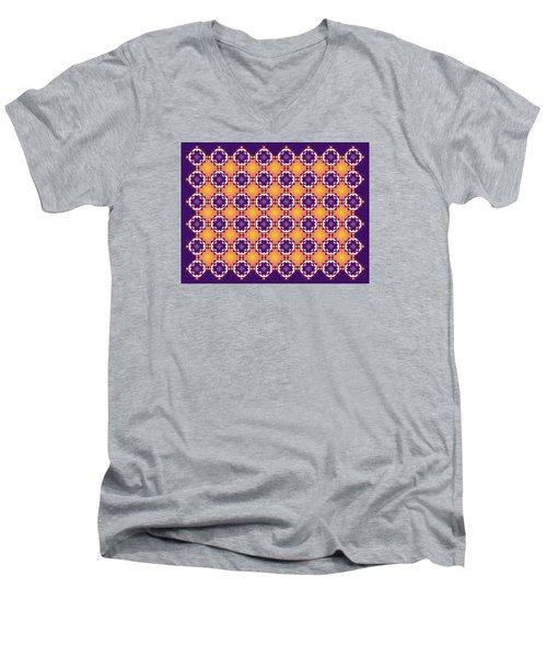 Art Matrix 001 A Men's V-Neck T-Shirt by Larry Capra