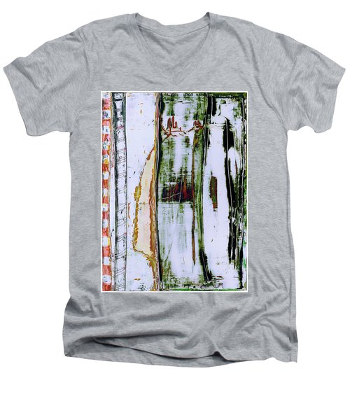 Art Print Forest Men's V-Neck T-Shirt