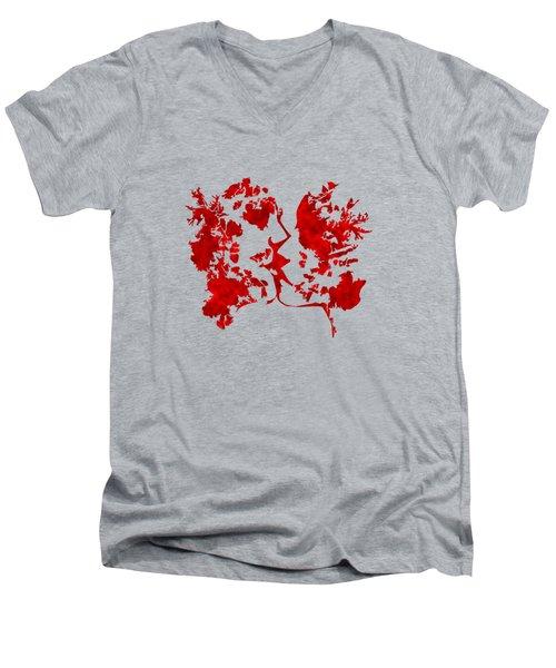 Art Watercolour Kiss Men's V-Neck T-Shirt