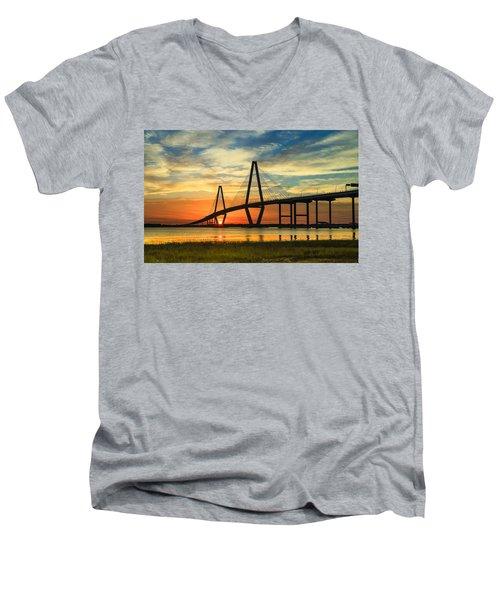Arthur Ravenel Jr. Bridge - Charleston Sc Men's V-Neck T-Shirt