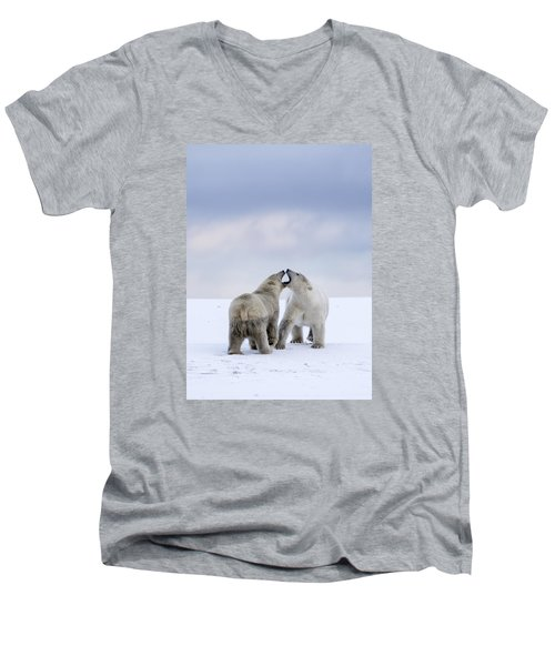 Artic Antics Men's V-Neck T-Shirt