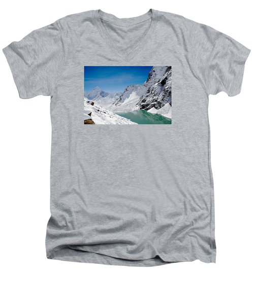 Artic Landscape Men's V-Neck T-Shirt