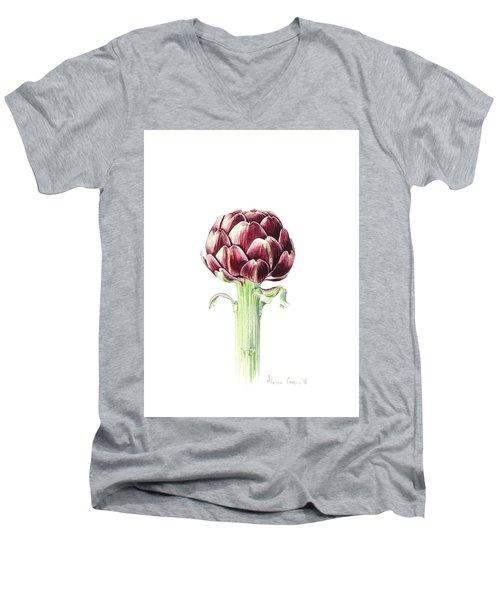 Artichoke From Roman Market Men's V-Neck T-Shirt by Alison Cooper
