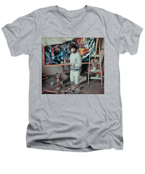 Artist In His Studio Men's V-Neck T-Shirt