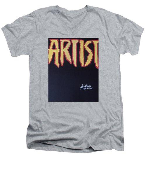 Artist 2009 Movie Men's V-Neck T-Shirt by Joshua Maddison