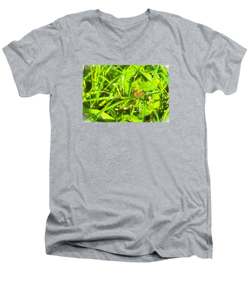 Men's V-Neck T-Shirt featuring the photograph Artistic Essex Skipper  by Leif Sohlman