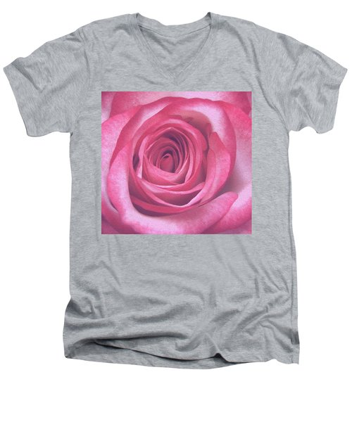 Artistic Red Rose Men's V-Neck T-Shirt