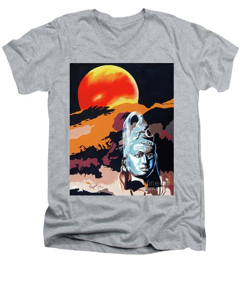 Artistic Vision Of The Almighty Men's V-Neck T-Shirt