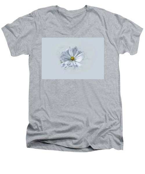 Artistic White #g1 Men's V-Neck T-Shirt by Leif Sohlman