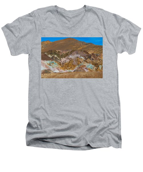 Artists Palette At Death Valley Men's V-Neck T-Shirt