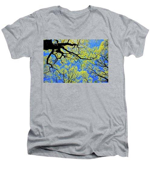 Artsy Tree Canopy Series, Early Spring - # 03 Men's V-Neck T-Shirt