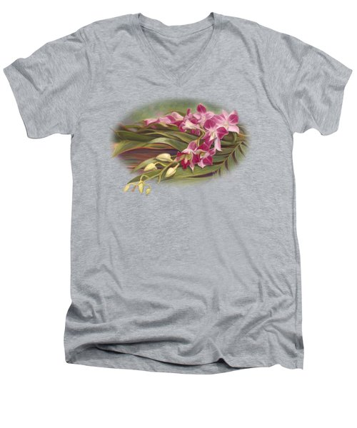 Dendrobium Orchids Men's V-Neck T-Shirt