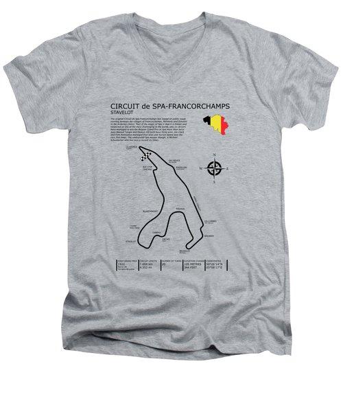 Spa Francorchamps Men's V-Neck T-Shirt by Mark Rogan
