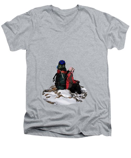 Himalayan Porter, Nepal Men's V-Neck T-Shirt