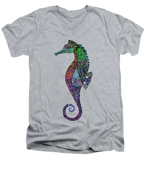 Electric Gentleman Seahorse Men's V-Neck T-Shirt