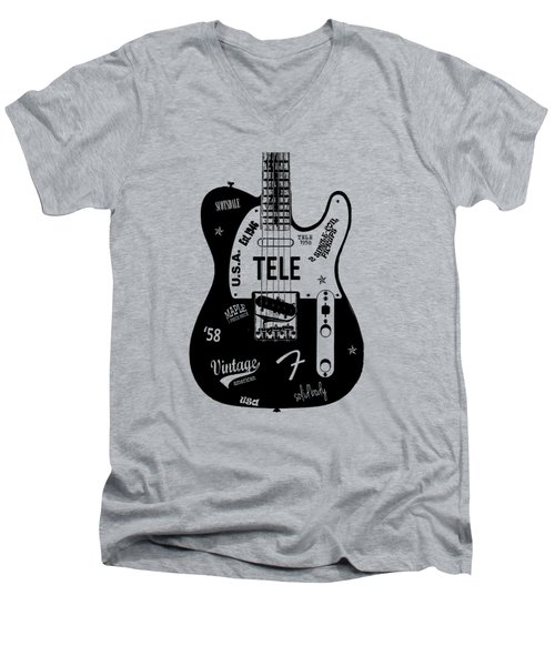 Fender Telecaster 58 Men's V-Neck T-Shirt by Mark Rogan