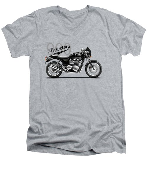 Triumph Thruxton Men's V-Neck T-Shirt