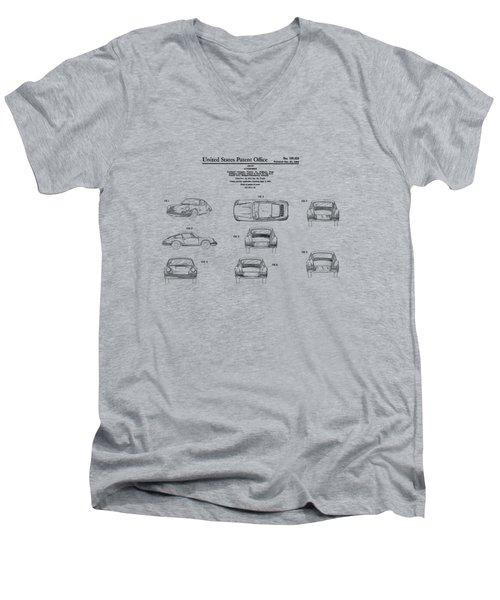 Porsche 911 Patent Men's V-Neck T-Shirt