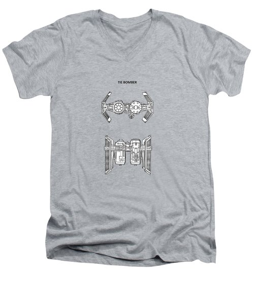 Star Wars - Spaceship Patent Men's V-Neck T-Shirt by Mark Rogan