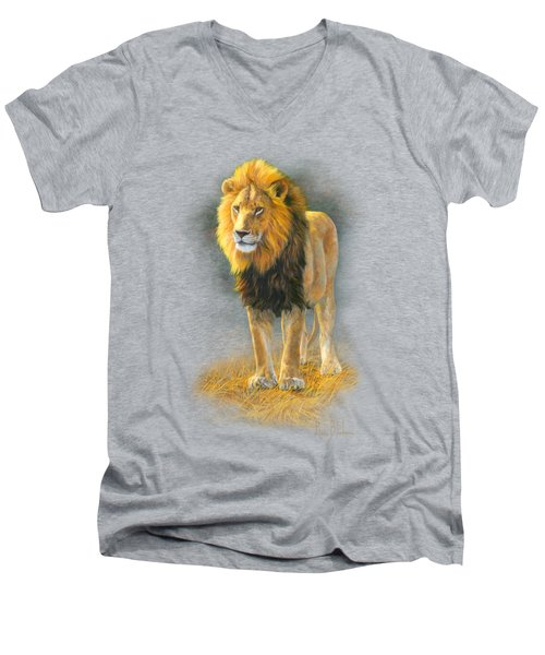 In His Prime Men's V-Neck T-Shirt by Lucie Bilodeau