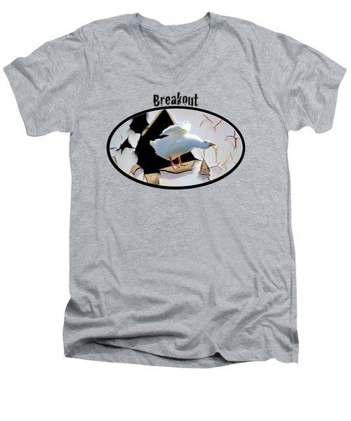 Breakout Men's V-Neck T-Shirt by Phyllis Denton